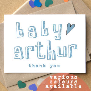 Personalised New Baby Thank You Cards - thank you cards