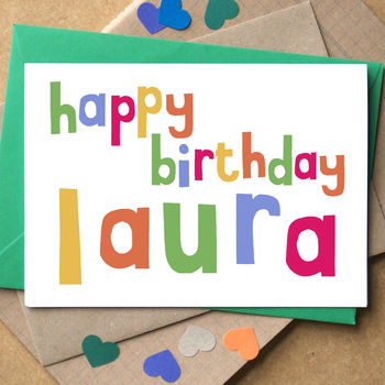 Personalised 'Happy Birthday' Card