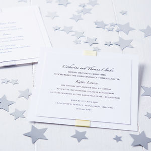 Elegance Baby Naming Christening Invitation