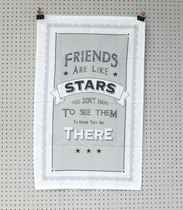 Friends Are Like Stars Tea Towel - kitchen accessories