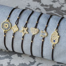 Gold Pave Symbolic Friendship Bracelet