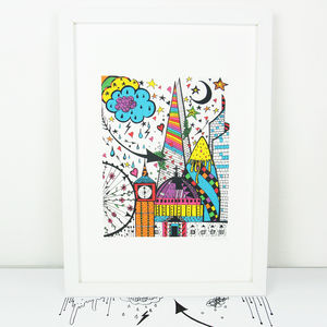 'London' Illustration Giclée Print