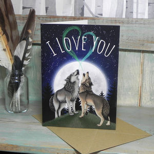 Wolf Song I Love You Card - valentine's cards