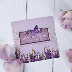 Lavender Country Garden Wedding Stationery - what's new