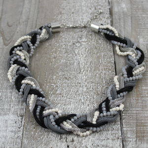 Black Twist Bead Necklace