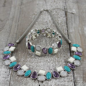 Alice Pebble Necklace And Bracelet Set