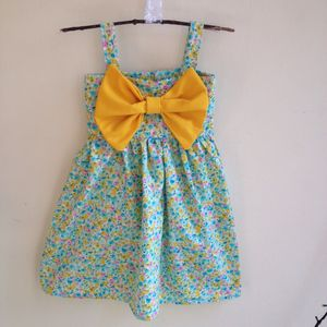 Floral Big Bow Dress - new in baby & child