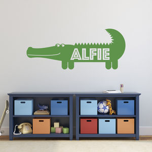 Personalised Crocodile Wall Sticker - wall stickers