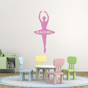 Personalised Ballet Dancer Wall Decal - wall stickers