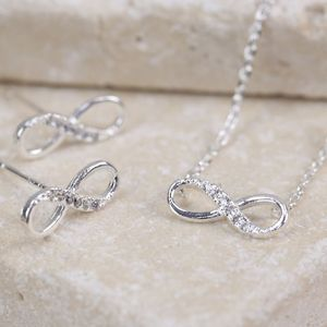 Diamante Infinity Jewellery Set