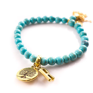 Tree Of Life Stretch Tassel Bracelet - bracelets & bangles