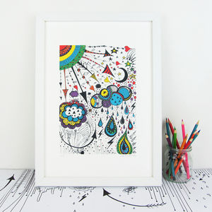 'Weather' Illustration Giclée Print - pictures & prints for children