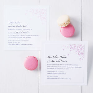Pastel Wedding Invitation - order of service & programs