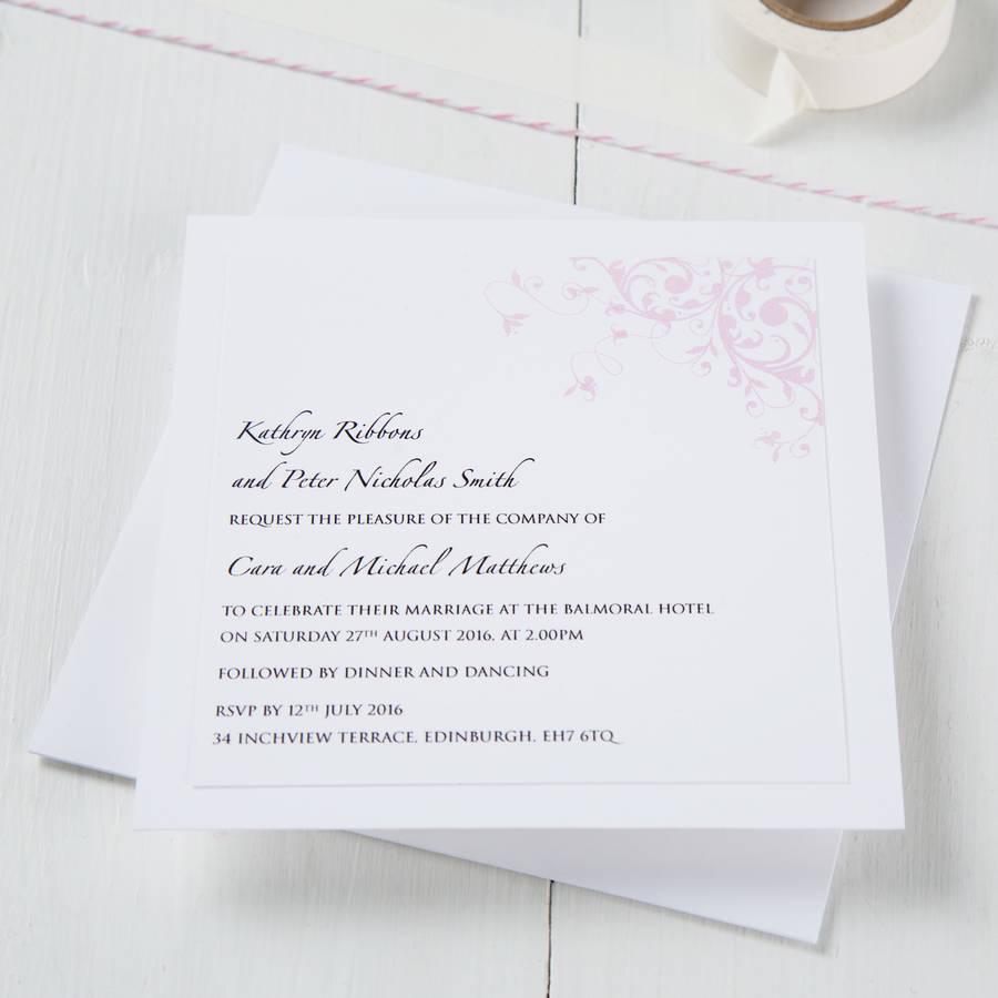 pastel wedding invitation by twenty-seven | notonthehighstreet.com