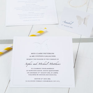 Butterfly Wedding Invitation - birds & butterflies