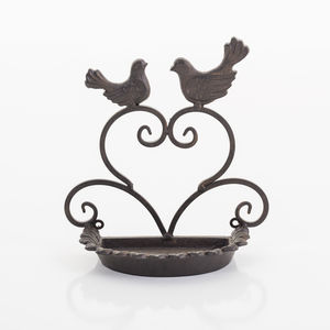 Cast Iron Wall Mounted Bird Feeder - garden sale