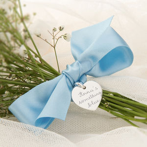 Personalised 'Something Blue' Bouquet Token - tokens & keep sakes