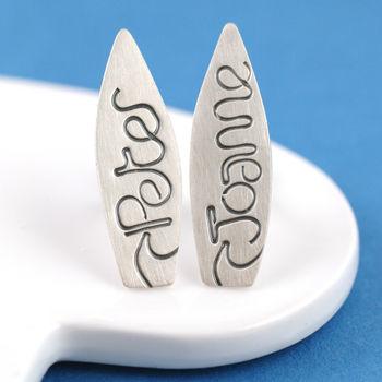 Personalised Silver Surfer Cufflinks
