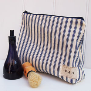 Personalised Men's Wash And Shave Bag