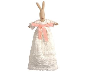 Baby Rabbit In Christening Gown - soft toys & dolls