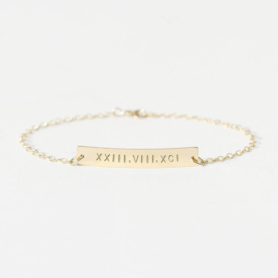 personalised set bracelet bloomboutique gold by perri original bar boutique bloom product
