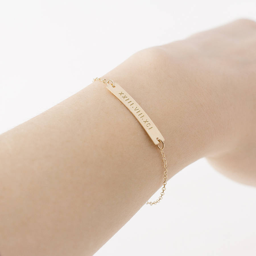 rose baby bar bracelet dp sides toddler silver both name filled gold id child bangles com personalized bangle custom bracelets amazon adjustable