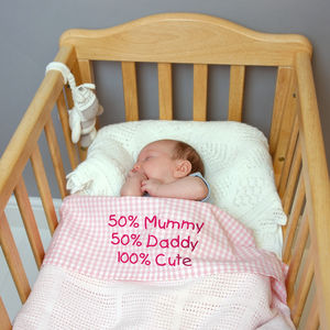 Personalised '50%' Baby Bed Sheet