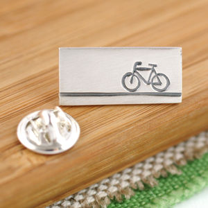 Sterling Silver Bike Tie Pin - men's accessories