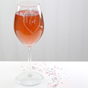 Personalised Engraved Heart And Arrow Wine Glass - what's new