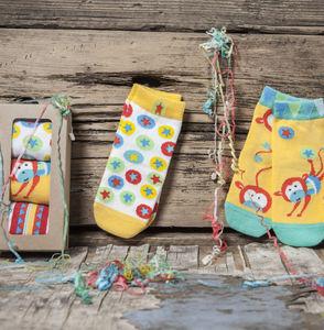 Monkey Circus Children's Socks