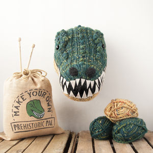 Make Your Own Faux Dinosaur Knitting Kit T Rex - toys & games