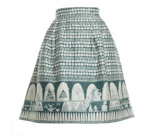 Elspeth Chocolate Shop Skirt Teal - skirts & shorts