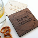 Personalised Drinks Coaster For Dads And Grandads