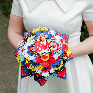 Comic Book Superhero Felt Bouquet - flowers, bouquets & button holes