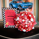 Polka Dot Button Bouquet