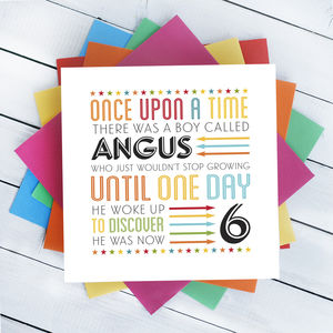 Child's Birthday Age Story Tale Card