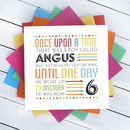 Personalised Kids Birthday Age Card
