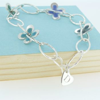 Personalised Enamelled Daisy Bracelet