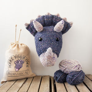 Make Your Own Faux Dinosaur Kit Triceratops - sewing & knitting
