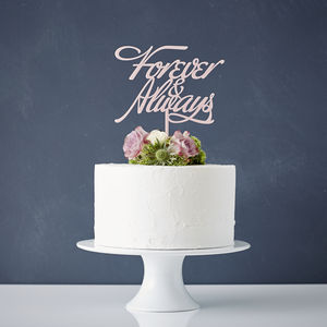 Elegant 'Forever And Always' Wedding Cake Topper - cake toppers & decorations
