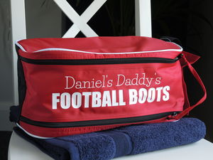 Personalised Football Boot Bag - men's accessories