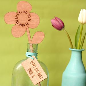 In Your Own Words Personalised Wooden Flower - flowers & plants