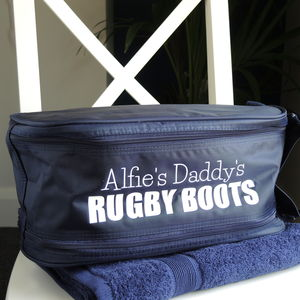 Personalised Rugby Boot Bag - gifts for teenage boys