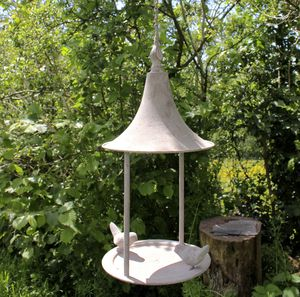 Metal Hanging Bird Feeder - bird feeders