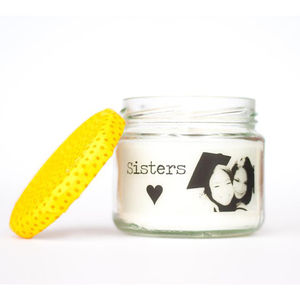 Personalised Photograph 'Sisters' Candle