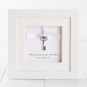Personalised Key Charm Thank You Teacher Box Frame - children's pictures & prints