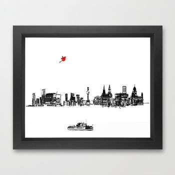 Liverpool City Skyline Fine Art Print
