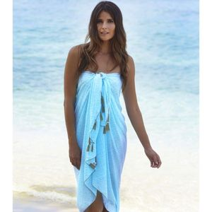 Ocean Wave Long Scarf/Sarong - kaftans & cover-ups