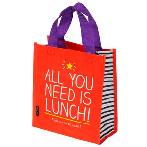 All You Need Is Lunch Mini Tote Bag - lunch boxes & bags