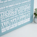 Stretched canvas - Personalised Memories Print